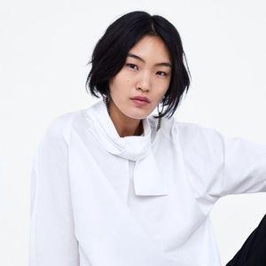 NWT Zara Tie Collar Shirt